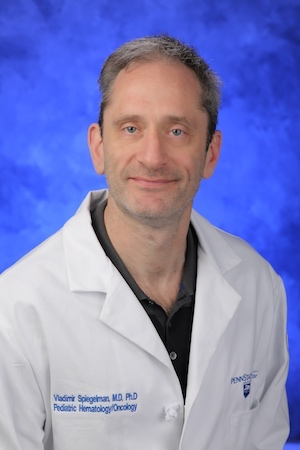 A head-and-shoulders professional photo of Vladimir Spiegelman, MD, PhD